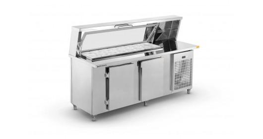 Balcão de Serviço Refrigerado Condimentador Top Refrimate - BSRCT1500